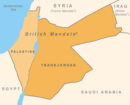 Map of British Mandate, 1922
